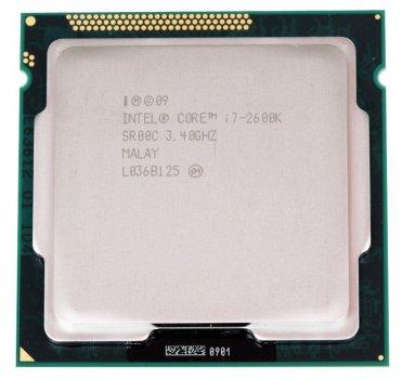 Процесор Intel Core i7-2600K s1155 ( 4ЯДРА x 3.4 GHz/ 5GT/s / 8MB/ 95 Вт ) BX80623I72600K Б/У