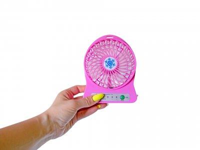 Вентилятор настільний Portable fan fan Mini 3 швидкості Рожевий