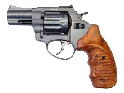 "Револьвер флобера STALKER 4 мм 2,5"" (барабан: сталь / титан / коричневый пластик)"