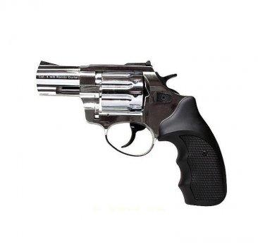 """Револьвер флобера STALKER 4 мм 2,5"""" никель (стальной барабан / черный пластик)"""