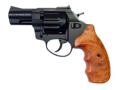 """Револьвер флобера STALKER 4 мм 2,5"""" черный (стальной барабан / пластик под дерево)"""