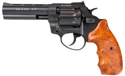 """Револьвер флобера STALKER 4 мм 4,5"""" (барабан: силумин / черный / пластик под дерево)"""