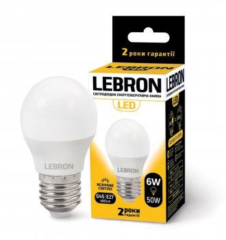 Лампа Lebron G45 6W 4100K E27