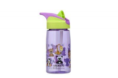 Детская бутылка 500мл с трубочкой Ardesto Funny Animals Разноцветная (AR2201TA)