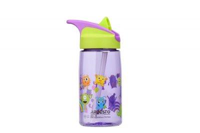 Детская бутылка 500мл с трубочкой Ardesto Luna kids Разноцветная (AR2201TM)