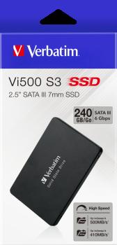 """Verbatim SSD Vi500 S3 240GB 2.5"""" SATAIII 3D NAND TLC (70023)"""