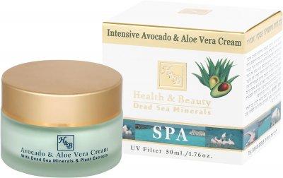 Интенсивный крем с авокадо и алоэ для чувствительной кожи HealthBeauty Intensive Avocado Aloe Vera Cream, 50 мл (7290012326097)