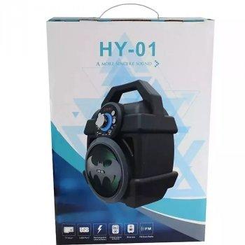 Колонка бумбокс беспроводная Bluetooth акустика портативная Бэтмен HY-01 чёрно-серая