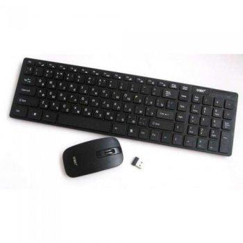 Русская беспроводная клавиатура с мышкой NEWstyle UKC k06 с адаптером