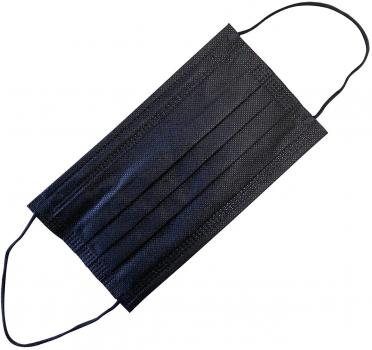 Медицинская маска Medicalspan черная гипоаллергенная трехслойная процедурная 10 шт (Ч102010)