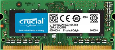 Оперативна пам'ять Crucial SODIMM DDR3L-1866 4096 MB PC3L-14900 (CT4G3S186DJM)