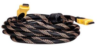 Кабель PowerPlant (KD00AS1197) HDMI-HDMI v1.3, 5м, Nylon, Double ferrites, Black