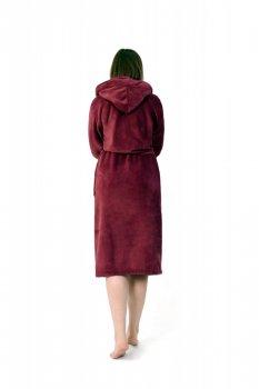 Женский халат махровый Amelino Гранатовый