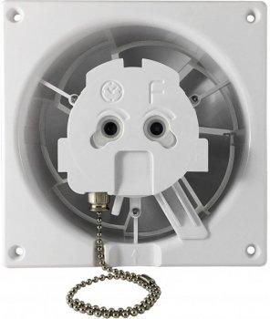 Вытяжной вентилятор AirRoxy dRim 100 PS BB Белое стекло, с шнурковым выключателем.