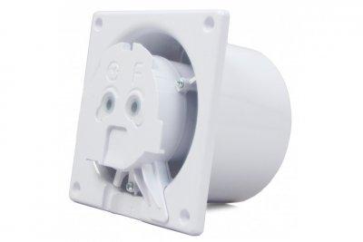 Вытяжной вентилятор AirRoxy dRim 100 HS BB Белое стекло матовый, с датчиком влажности и таймером.
