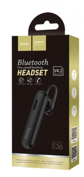 Беспроводная Bluetooth-гарнитура для телефона Hoco E36 Black