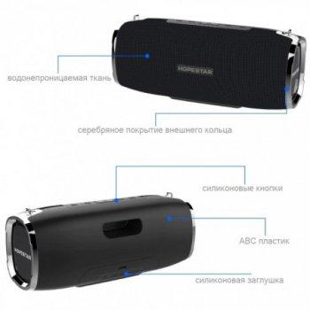 Потужна портативна bluetooth колонка Sound System A6 Pro Hopestar Оригінал Чорна
