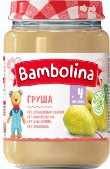Упаковка пюре Bambolina Груша 190 г х 12 шт. (4813163001908)
