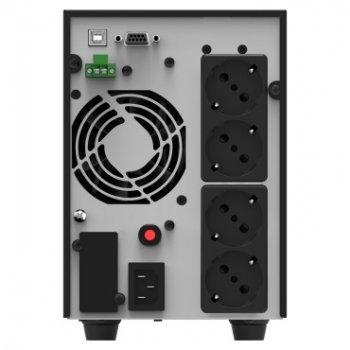 ДБЖ NJOY Echo Pro 2000 (UPOL-OL200EP-CG01B), Online, 4 x Schuko, USB, LCD, метал