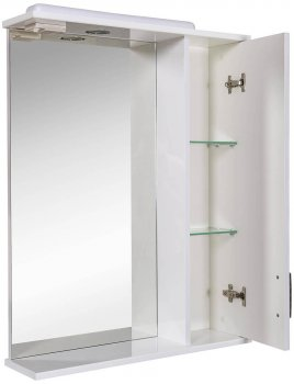 Зеркало AQUA RODOS Ассоль с подсветкой и пеналом справа 65 см