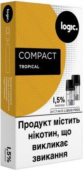 Картриджі Logic Compact Tropical для POD-систем 1.5% 2 шт. (Тропік) (14488906) (4820000537063)