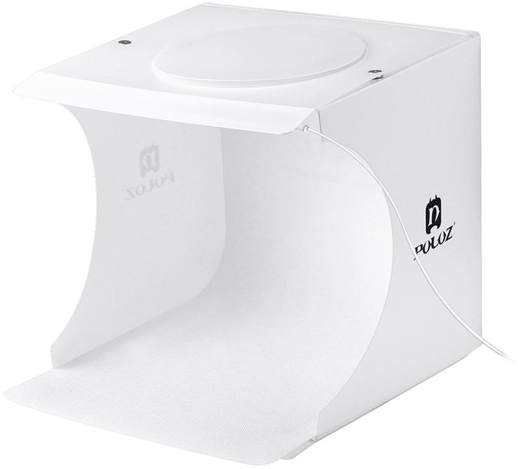 Лайткуб (фотобокс) для предметної зйомки Puluz PU5022 24 x 23 x 22 см + 2 LED-панелі Білий