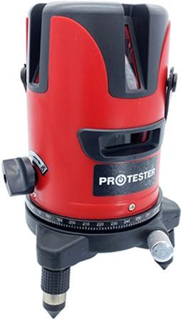 Лазерний рівень PROTESTER, 2 лінії 1H/1V червоний промінь