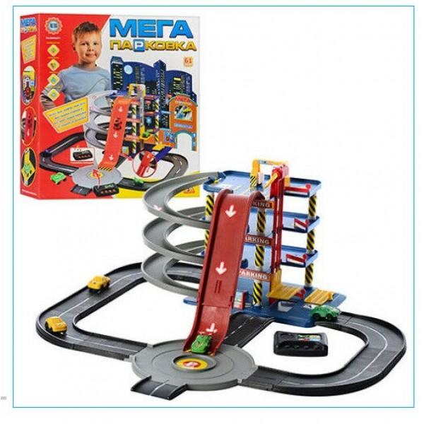 Игровой набор Гараж Metr+ 922-7 Мега Парковка 4 уровня четыре машинки