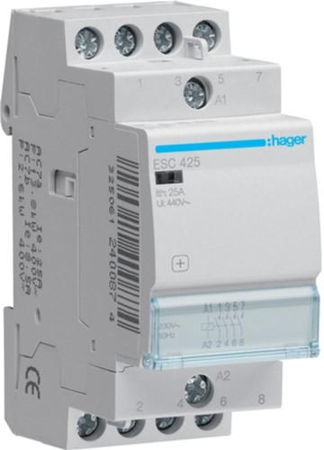 Модульний контактор Hager ESC425 230В/25А 4HB