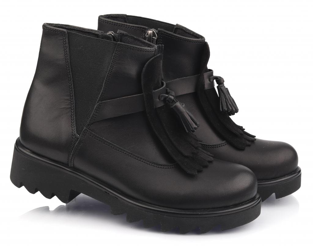 Topitop / Ботинки осенние TOPITOP 2091 для девочек чёрные. Размер 34