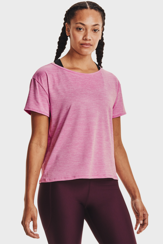 Женская розовая футболка UA Tech Vent SS-PNK Under Armour M 1364661-680