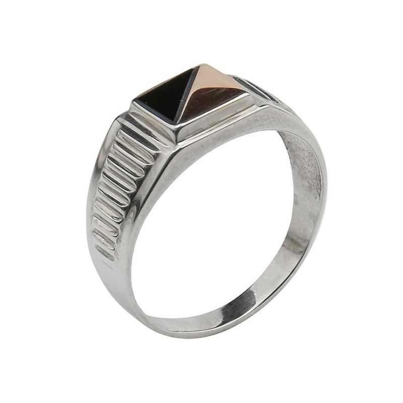 Мужское серебряное кольцо 512з-7, 21.5 размер