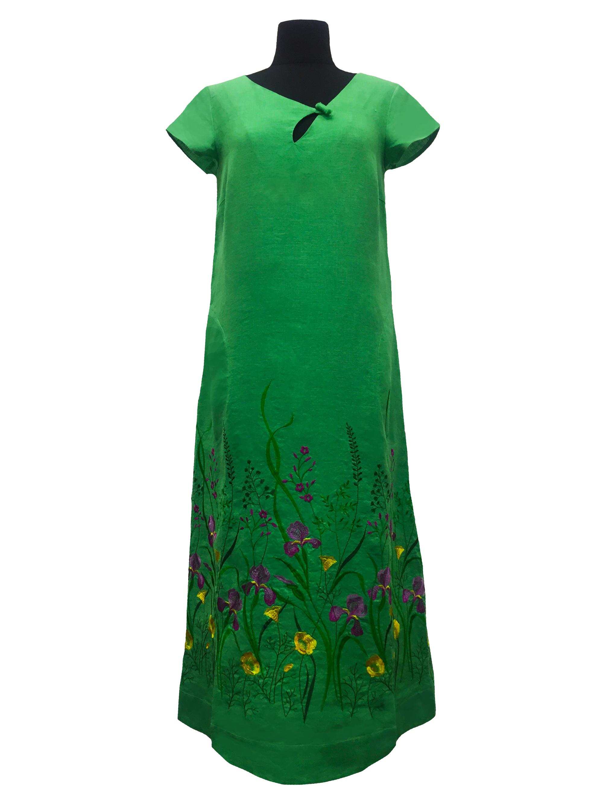 Галерея льна / Платье Галерея льону Мирослава зелена 50 0916/50/393