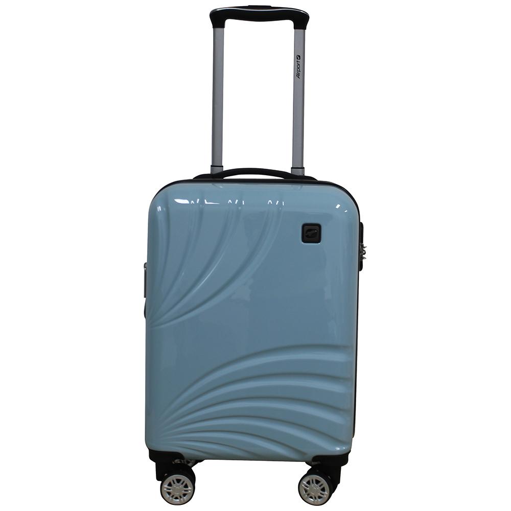 Чемодан Airport POEME голубой, 8 колес, 50 см