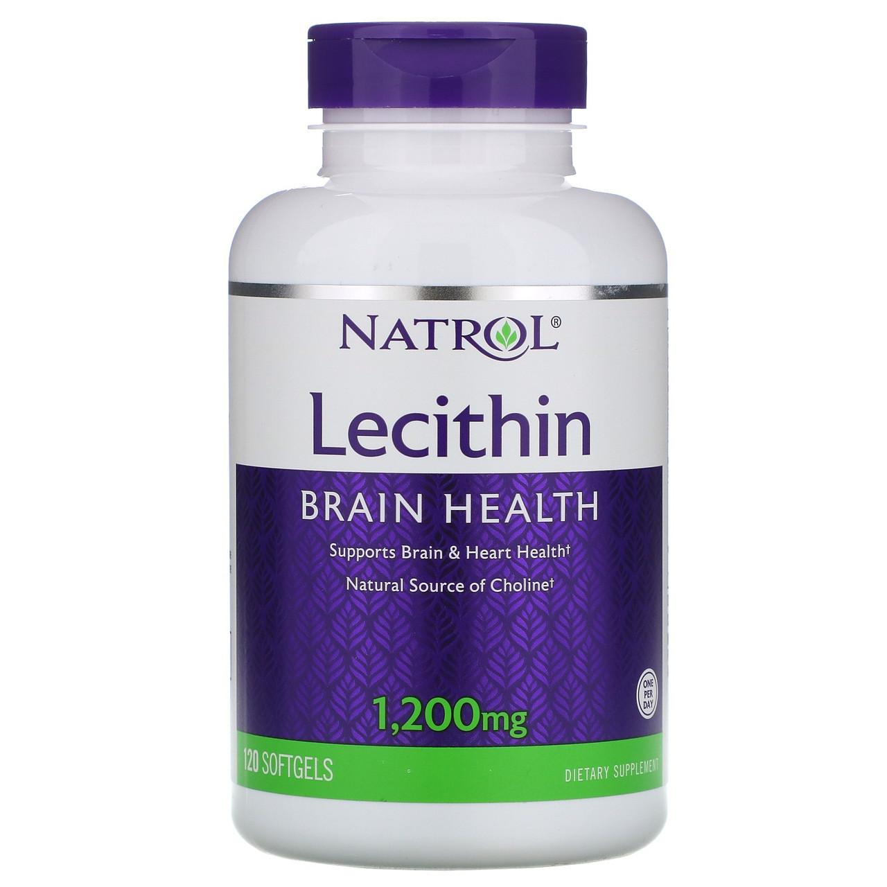 Now Foods / Лецитин соевый Natrol Lecithin для пищеварения и нервной системы 1200 мг 120 капсул
