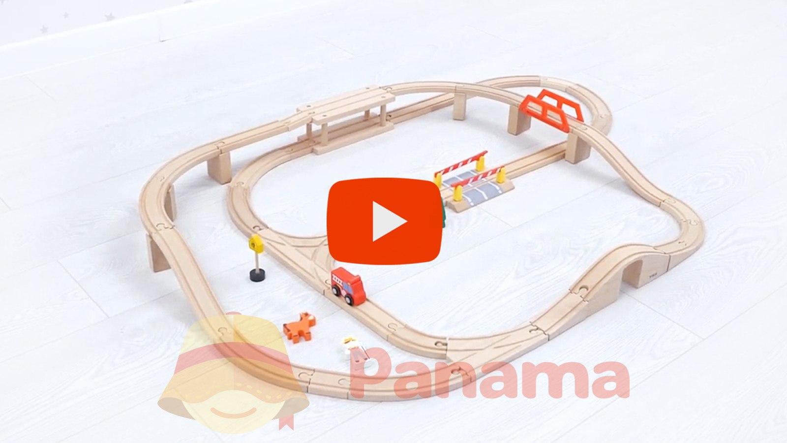 """Игровой набор """"Железная дорога"""", 90 деталей - Viga Toys (20-544837)"""