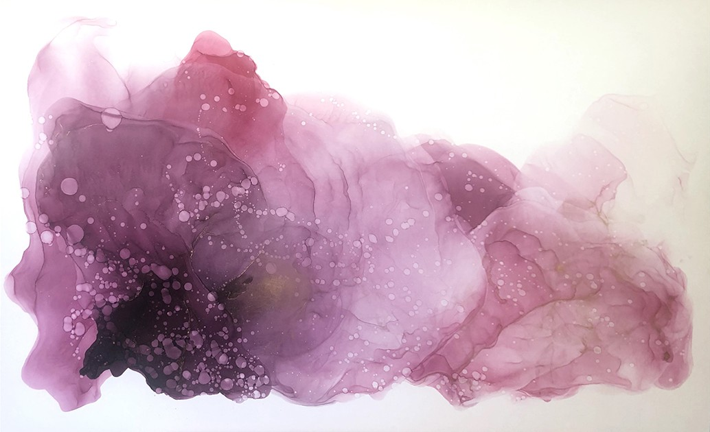 Интерьерная картина АБСТРАКЦИЯ №3 флюид арт (fluid art) размером 570х920мм Frames Posters Decor