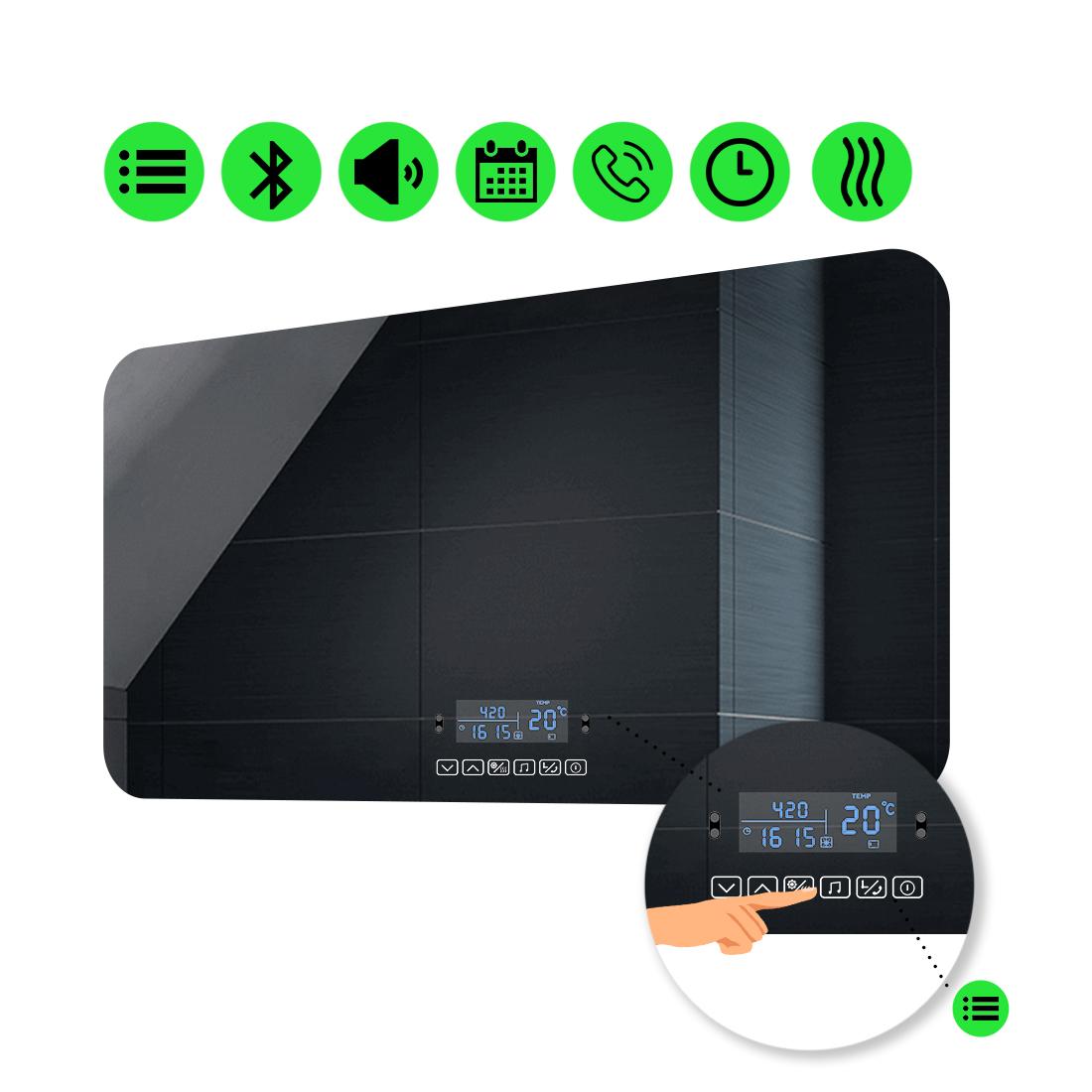 LED-зеркало 100x60см, с Smart-блоком и подогревом, модель Ornela