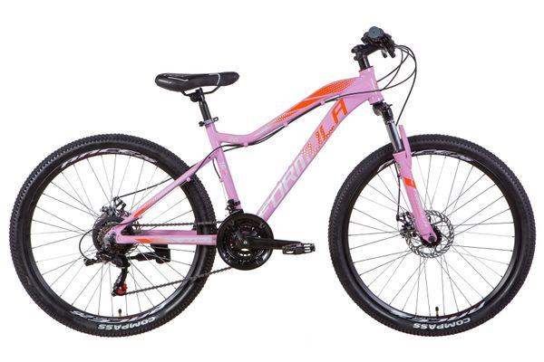 """Велосипед AL 26"""" Formula ALPINA AM DD 2021 (розово-оранжевый с серым)"""