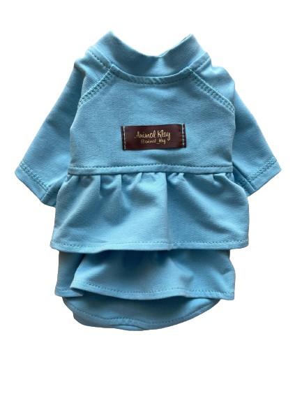 Платье худи для собак AnimalKlay Зефирка XS1 Голубое