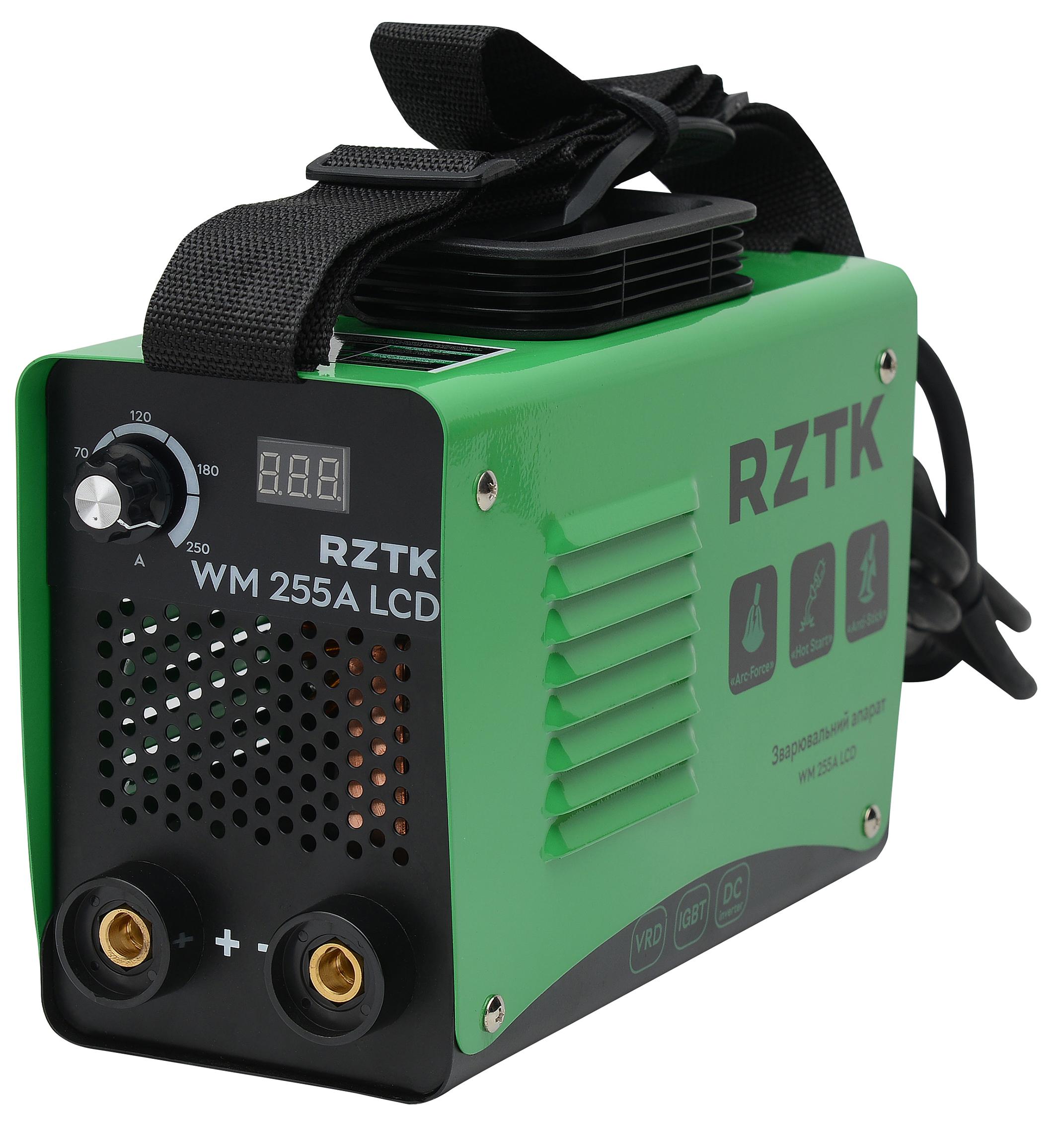 Зварювальний інвертор RZTK WM 255A LCD