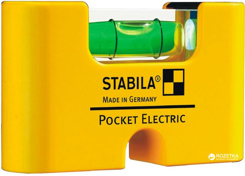 Рівень міні Stabila Type Pocket Electric магнітний 70 х 20 х 40 мм