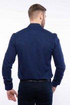 Рубашка мужская с мелким принтом Time of Style 204P1163 M Чернильно-голубой - изображение 5