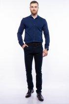 Рубашка мужская с мелким принтом Time of Style 204P1163 L Чернильно-голубой - изображение 2
