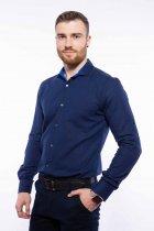 Рубашка мужская с мелким принтом Time of Style 204P1163 L Чернильно-голубой - изображение 4