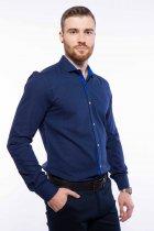 Рубашка мужская с мелким принтом Time of Style 204P1163 XXL Чернильно-голубой - изображение 3