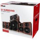Акустична система Trust Vigor 5.1 Surround Speaker System Brown (21786) - зображення 5