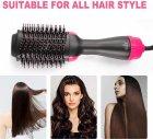 Фен-расческа 3 в 1 стайлер для укладки волос браш One Step Blower Brush 1000 Вт Black - изображение 11