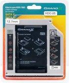"""Адаптер підключення Grand-X HDD 2.5"""" в відсік приводу ноутбука SATA/mSATA (HDC-25) - зображення 6"""