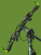 """Электровелосипед MAKE 36V 12Ah 500W рама 17""""/ 26"""" чёрно-зелёный - изображение 3"""